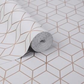 Nowoczesna tapeta 3D w złote linie