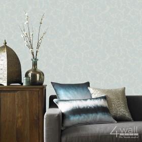 Mietowa tapeta do salonu w stylu Glamour