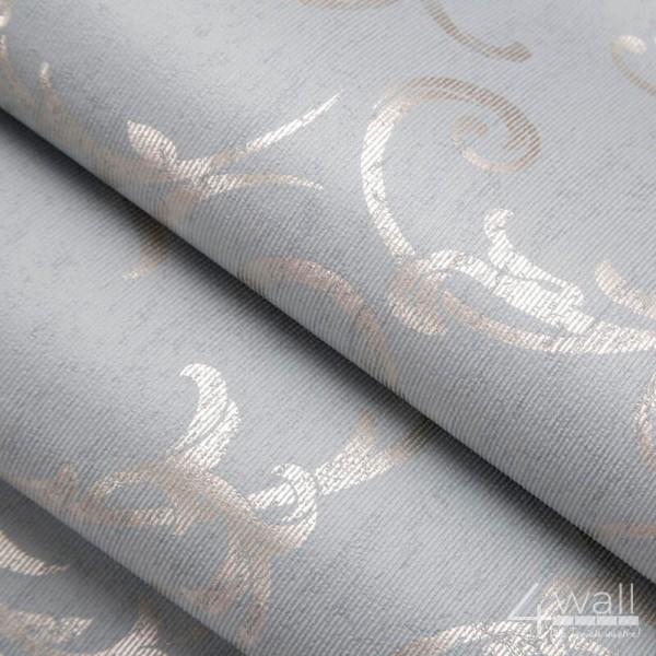 Tapeta w miętowe wzory w stylu glamour, winylowa zmywalna