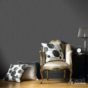 Czarna tapeta do salonu elegancka w stylu Glamour do gabinetu błyszcząca