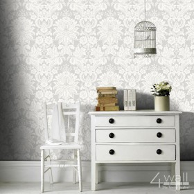 Tapeta glamour w damaski ornamenty do pokoju