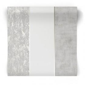 Szara tapeta popękany beton 104870