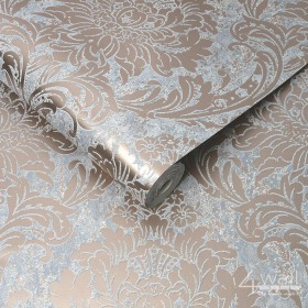 Laserowa tapeta w miedziany ornament