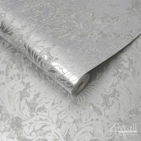 Świecąca tapeta srebrna glamour