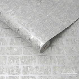 Tapeta ścienna błyszczące srebro