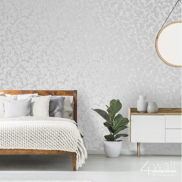 Błyszczące tapety do sypialni w ornamenty