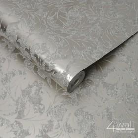 Błyszcząca tapeta w liście glamour