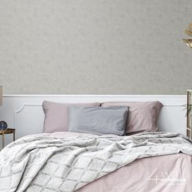 Ściana beton za łóżkiem