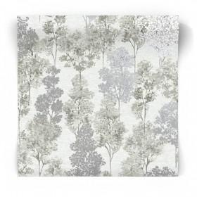 Tapeta w malowane drzewa 90380
