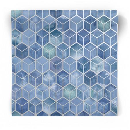 Niebieska tapeta 3D 90412