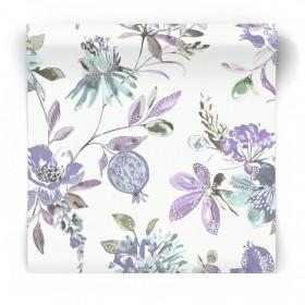 Tapeta w foletowe kwiaty 90433