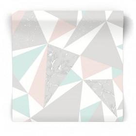 Pastelowa tapeta geometryczna 90460