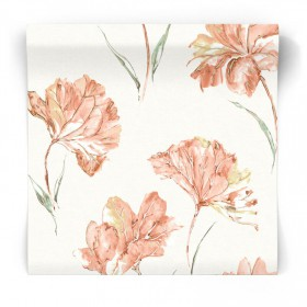Tapeta w malowane kwiaty 90480