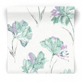 Tapeta w malowane kwiaty 90482