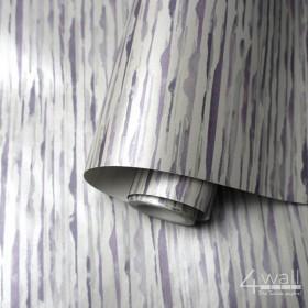 Tapeta Strukturalna w fioletowo szare paski poziome