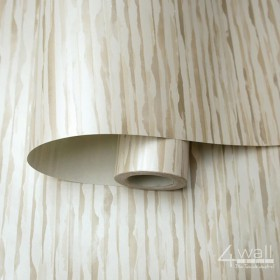 Tapety beżowe białe paski poziome