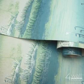Tropikalna tapeta Ombre krajobrazy błękitne miętowe