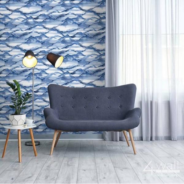 Niebieskie tapety do salonu
