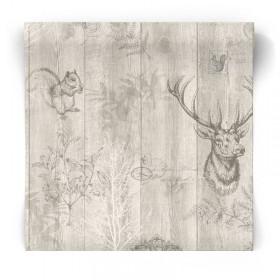 Skandynawska tapeta drewno 90251