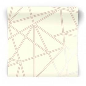 Biało złota tapeta geometryczna 90273