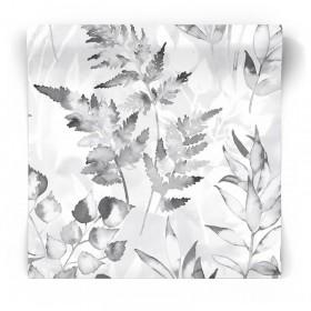 Czarno biała tapeta w kwiaty 90290