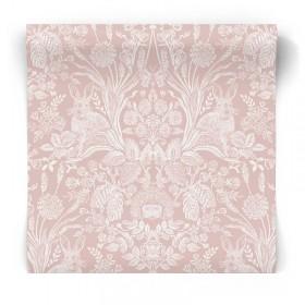 Różowa tapeta Vintage 90321