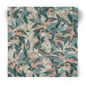 Tapeta ścienna w zielone kwiaty 90333