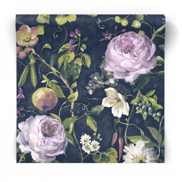 Vintage tapeta w kwiaty 90351