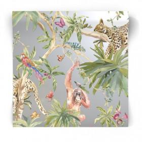 Srebrna tapeta zwierzęta 90562