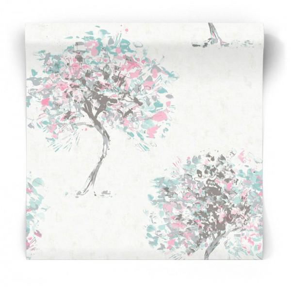 Tapeta w malowane drzewa 90652