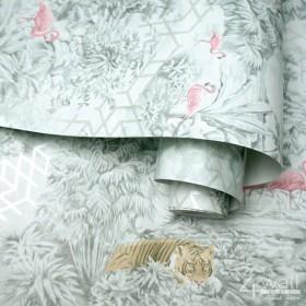 Tapety miętowe w stylu tropikalnym do wnętrza nowoczesnego