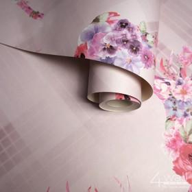 Tapety różowe Vintage skandynawskie do kobiecego wnętrza