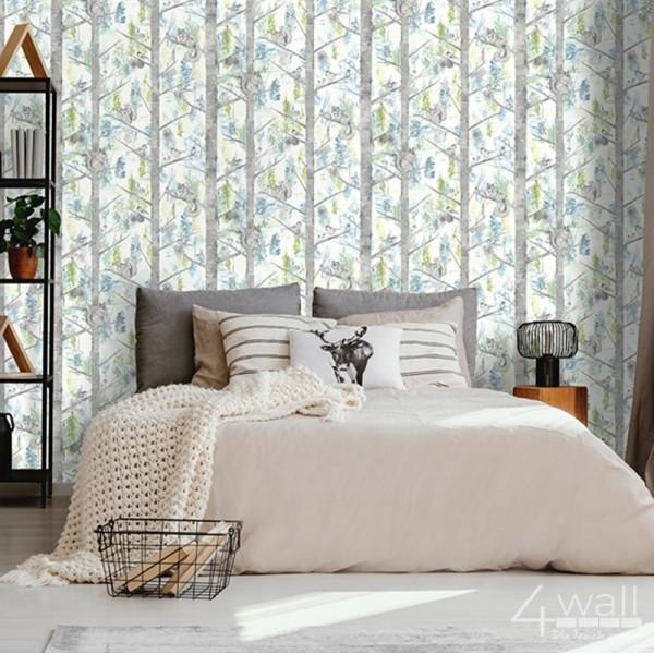 Tapety do sypialni drzewa, pnie brzozy