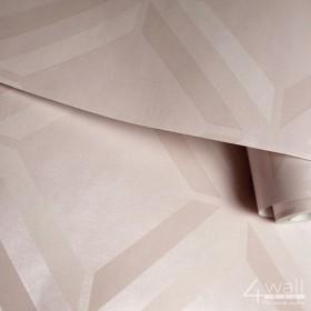 Różowa tapeta w romby 3D