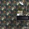 Tapeta do pokoju na czarrnym tle w kwiaty nowoczesne