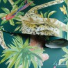 Zielona tapeta w tropikalne liście zmywalna