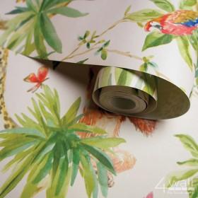Tapety w palmy tropikalne na białym tle
