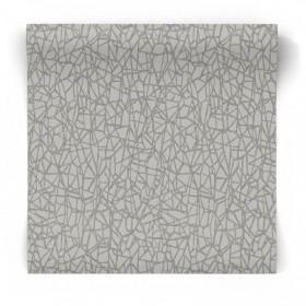Szara tapeta geometryczna 65581