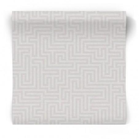 Szara tapeta geometryczny labirnt 65594