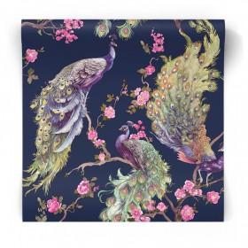 Różowa tapeta w zwierzeta 90670