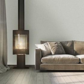 Tapety 3D do salonu srebrne metalizowane