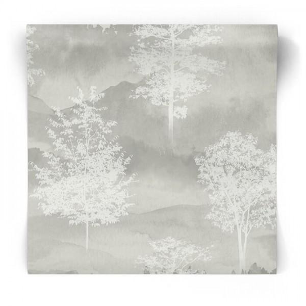 Szara tapeta w drzewa 90820