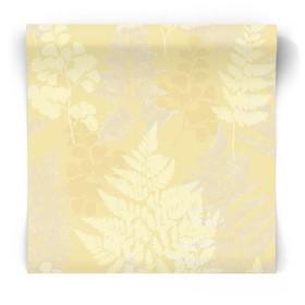 Żółta tapeta w liście 90843