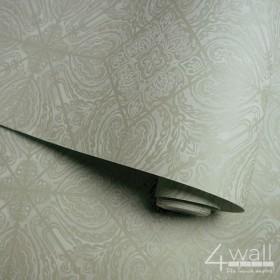 Oliwkowe tapety do nowoczesnego wnętrza w stylu glamour zmywalne
