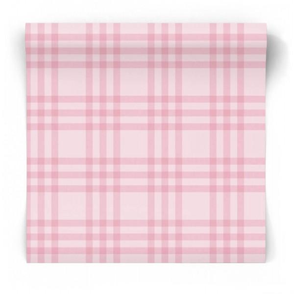 Tapeta dla dzieci w różową kratkę 5432