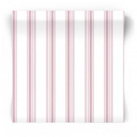 Dziecięca tapeta w różowe paski 5434