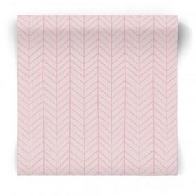 Różowa tapeta zygzak chevron 5448