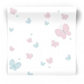 Tapeta dla niemowlaka motylki 5459