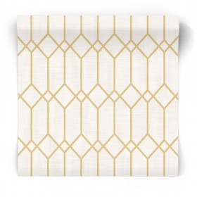 Tapeta w żółte wzory geometryczne 3732