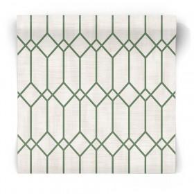 Zielona tapeta geometryczna 3735